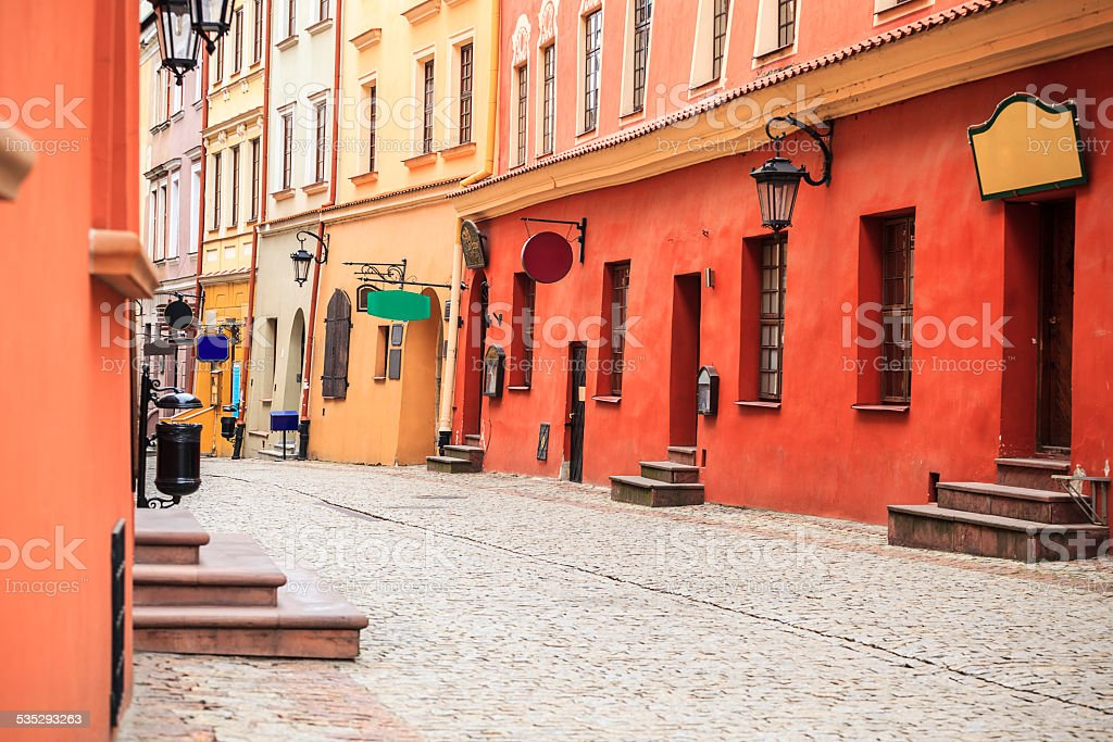 Lublin city center, Poland stock photo