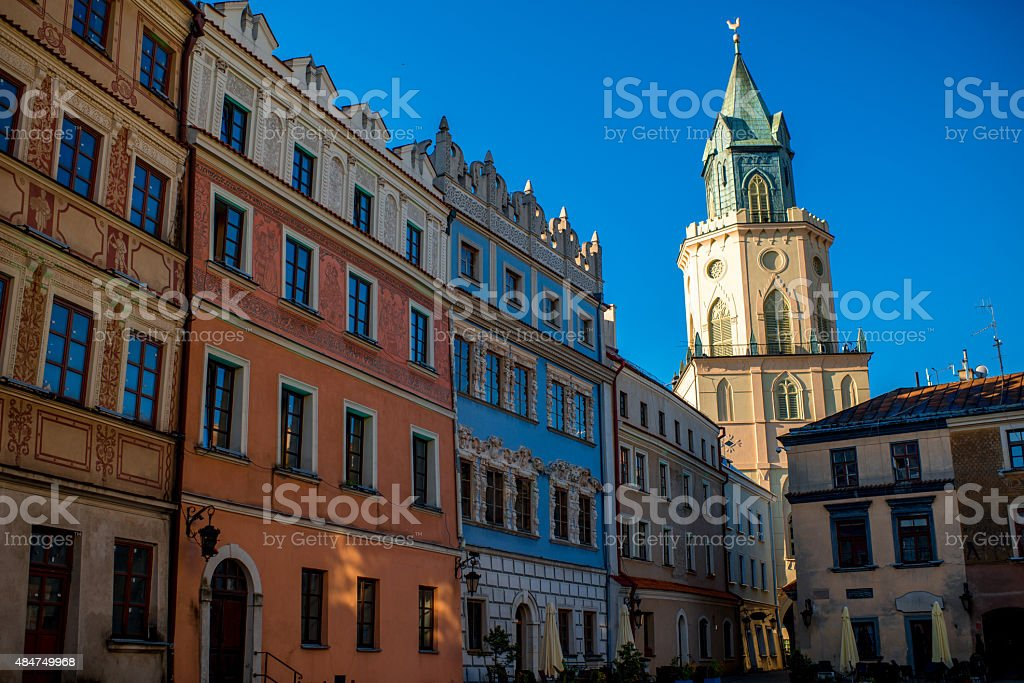 Lublin city stock photo