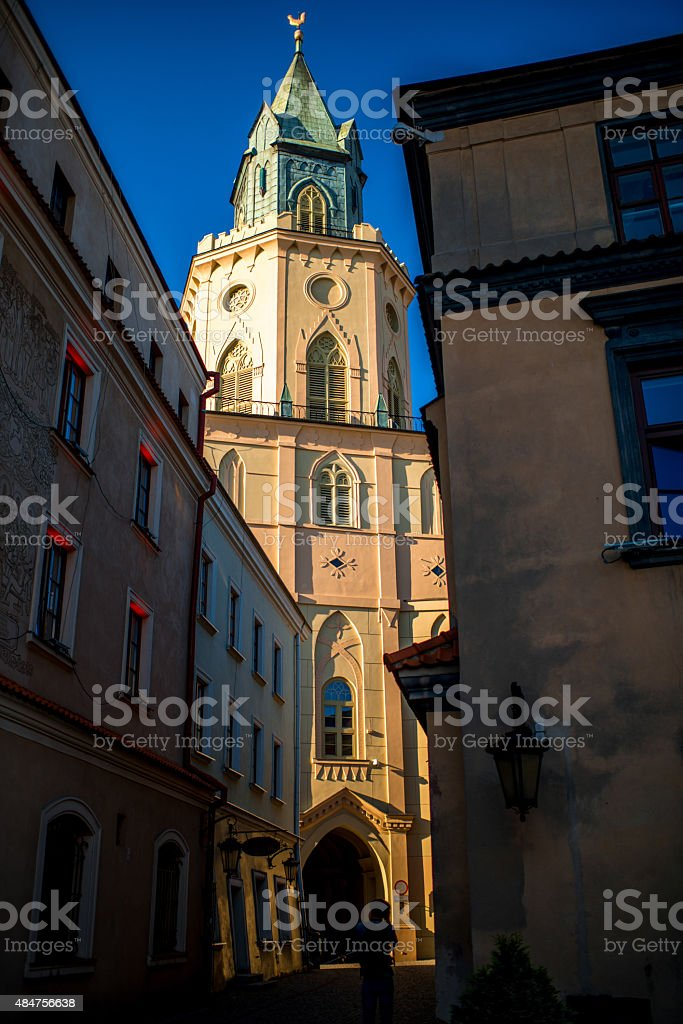 Lublin old city center stock photo
