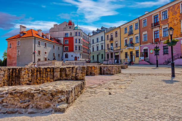 Lublin Old Town stock photo