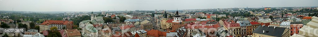 Lublin panorama stock photo