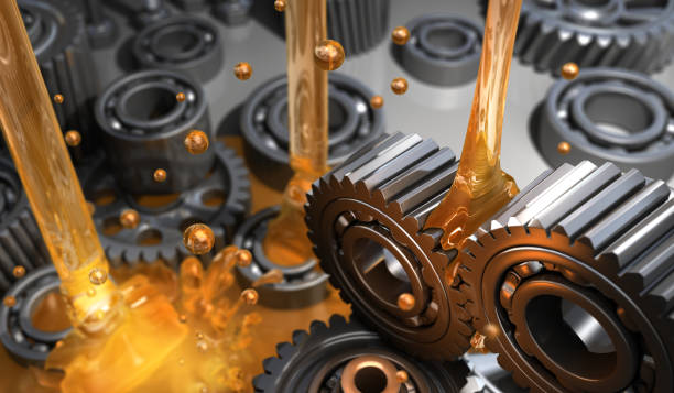 Lubricant and Gears stock photo