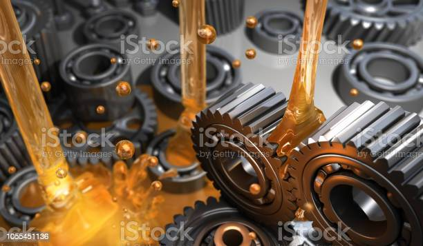 Lubricant And Gears Stock Photo - Download Image Now