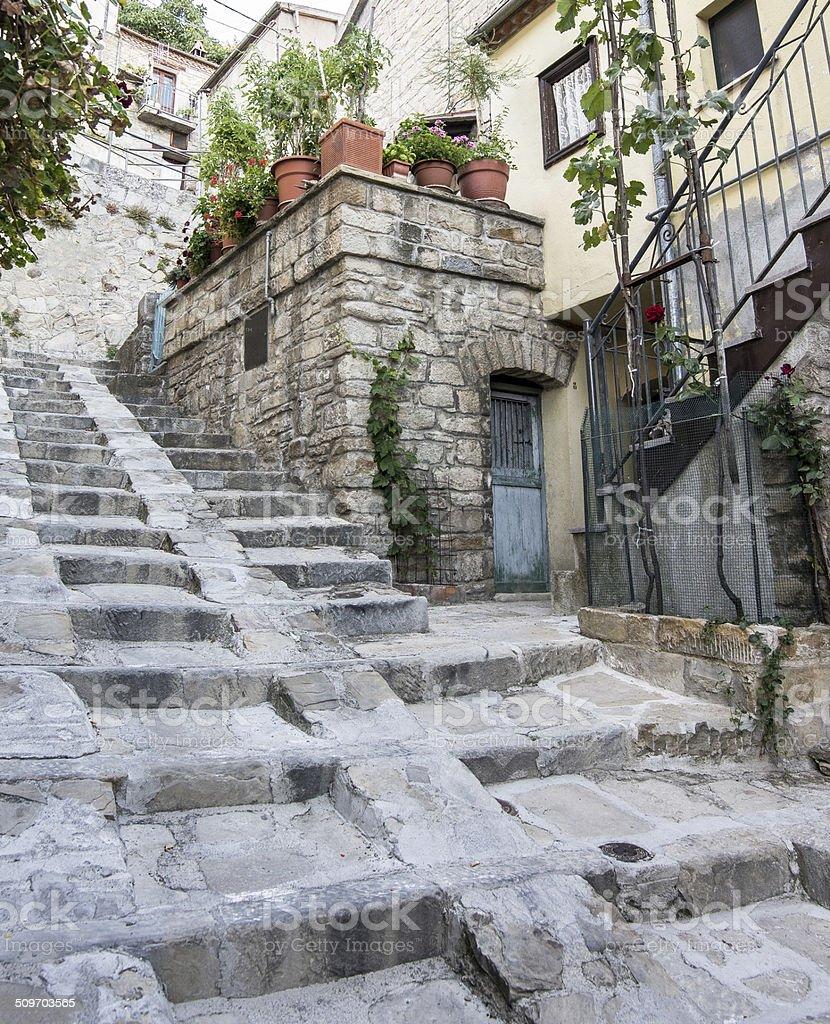 Lucania, Castelmezzano, Italia stock photo