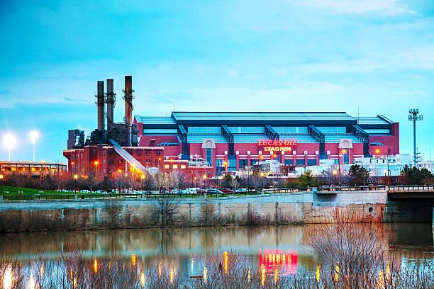 Lucas Oil Stadium in Indianapolis stock photo