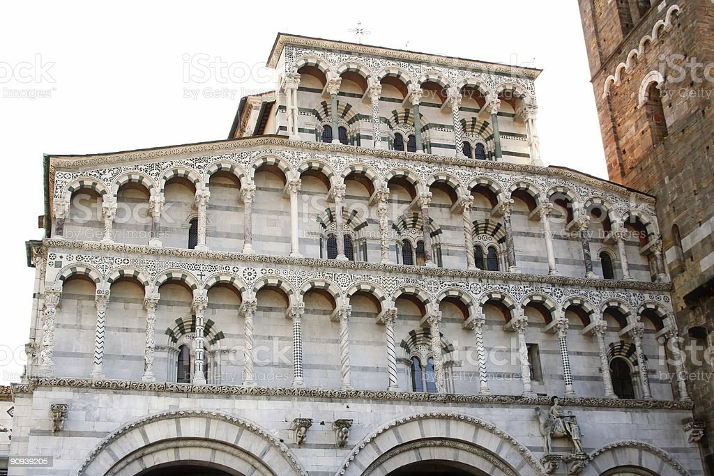 Lucca cathedral royalty-free stock photo