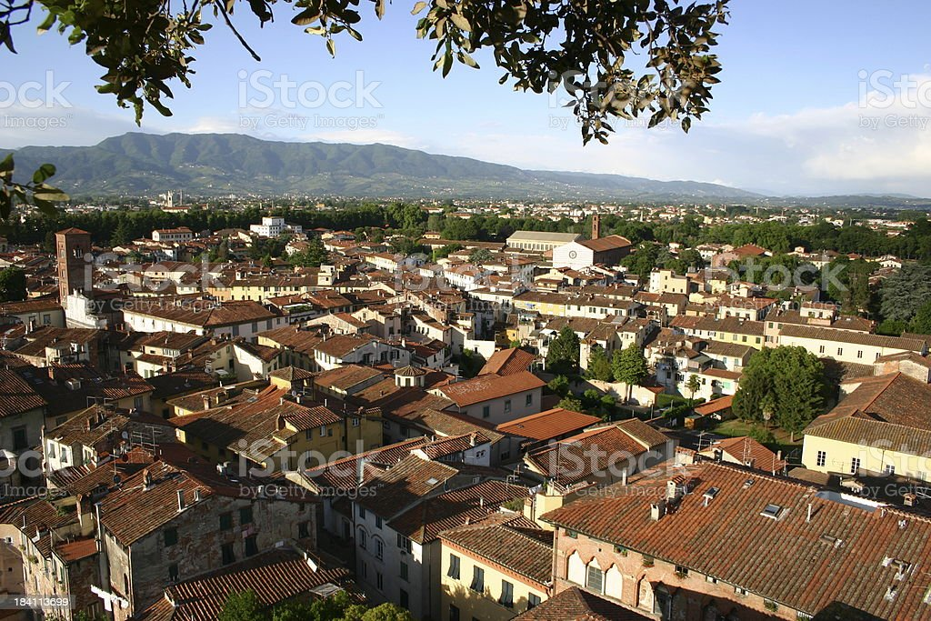 Lucca from above royalty-free stock photo