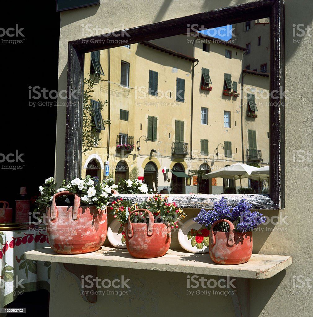 Lucca reflected stock photo