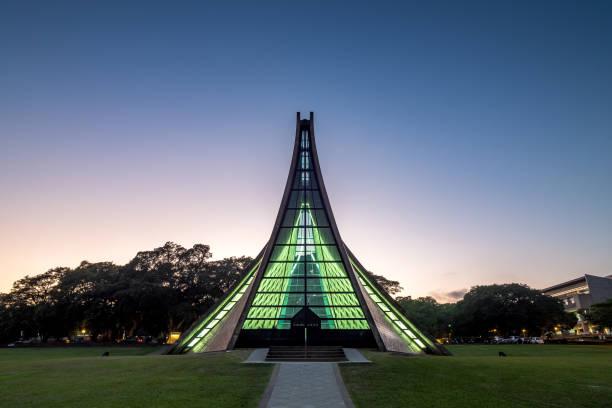 Taichung, Taiwan - Sep 27, 2018: Luce Memorial Chapel ist eine christliche Kirche auf dem Campus der Universität Tunghai. – Foto