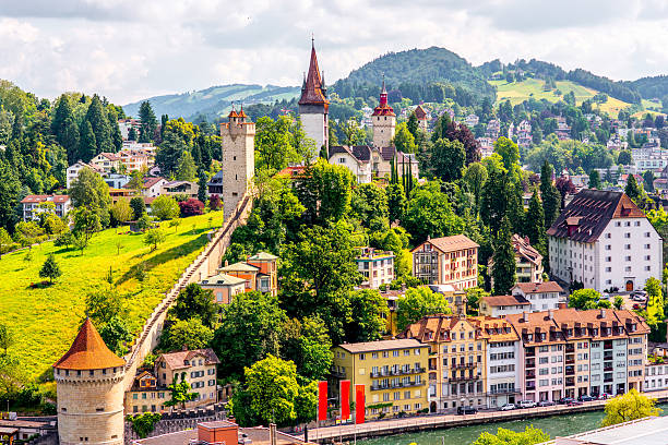 lucerne city in switzerland - lucerne stock pictures, royalty-free photos & images