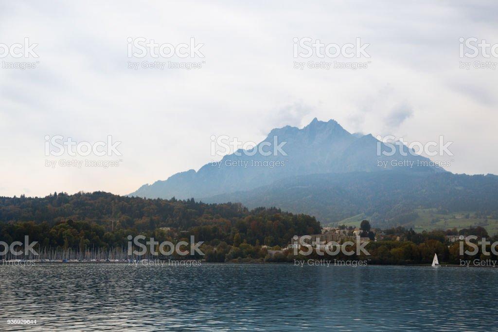 Lucerne lake stock photo