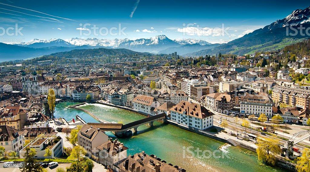 Lucerne Panorama stock photo