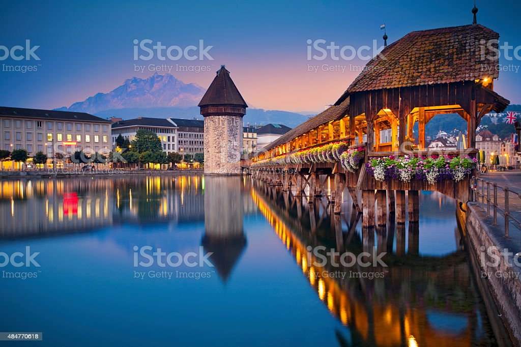 Lucerne. stock photo