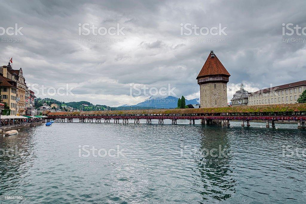 루체른/Luzern 시내 전망, Switzerland royalty-free 스톡 사진