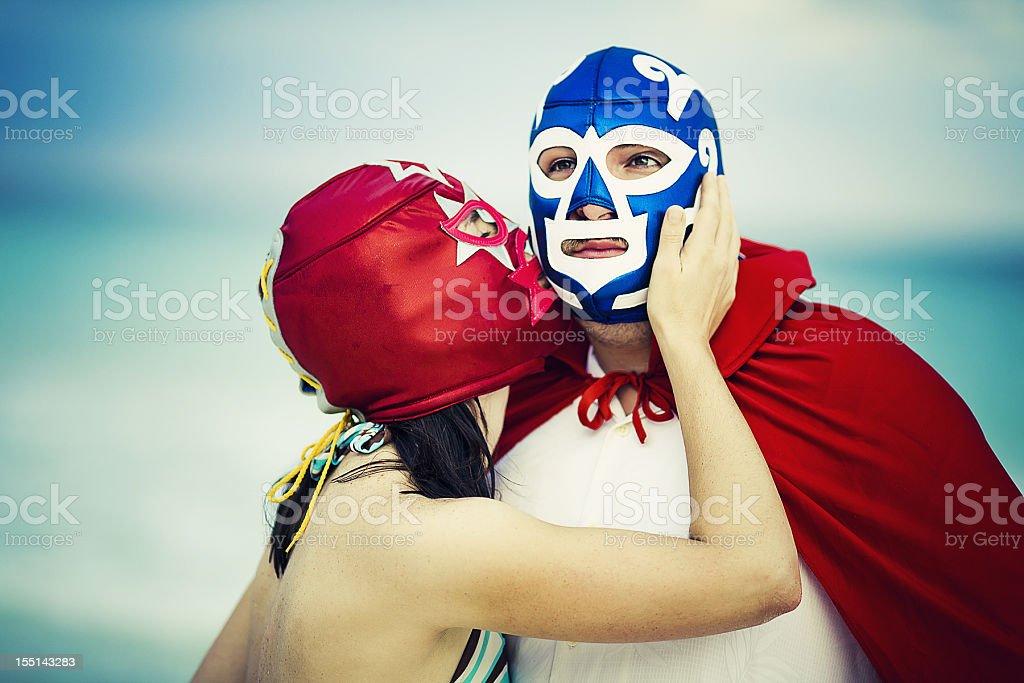 lucha libre tenderness stock photo