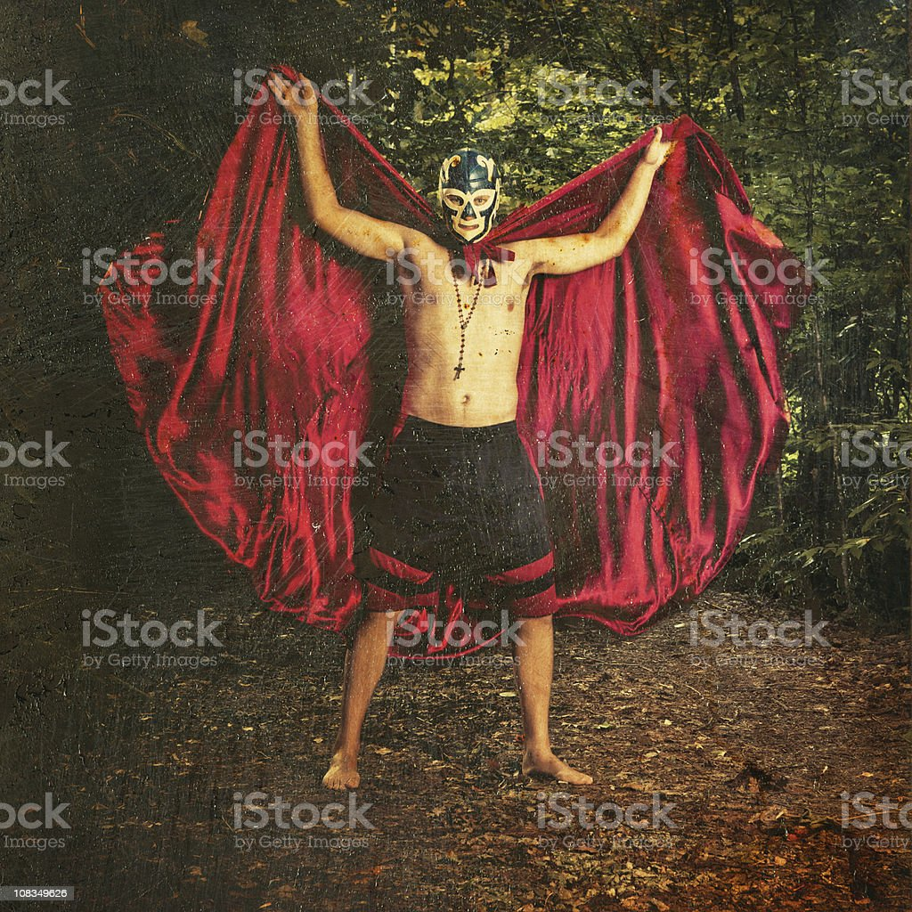 lucha libre wrestler royalty-free stock photo