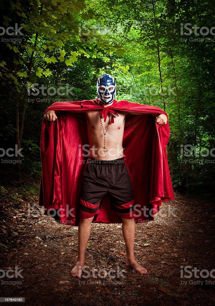 lucha libre wrestler stock photo