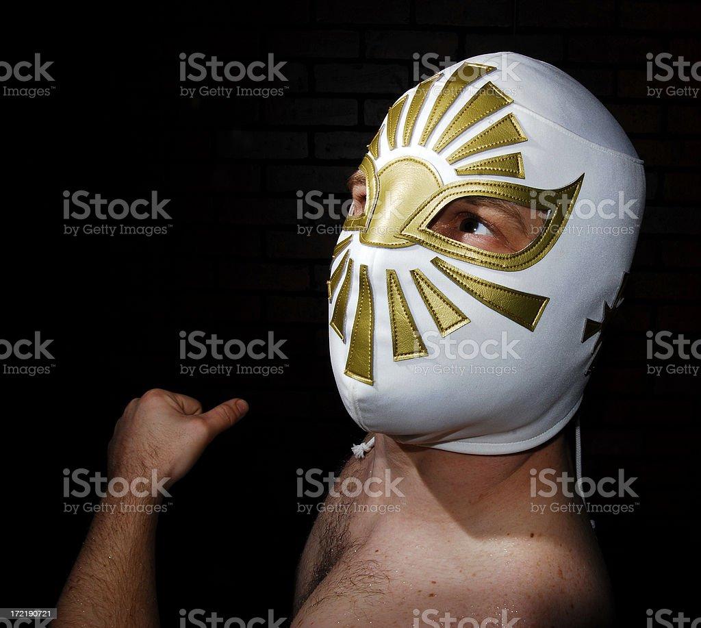 Luchador Loco royalty-free stock photo