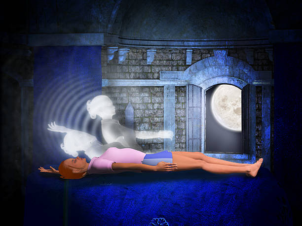 Lucid dreaming stock photo