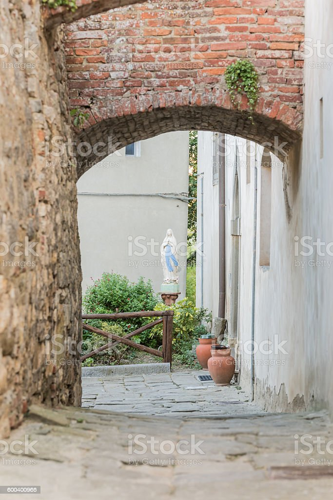 Lucignano in Tuscany - Italy stock photo