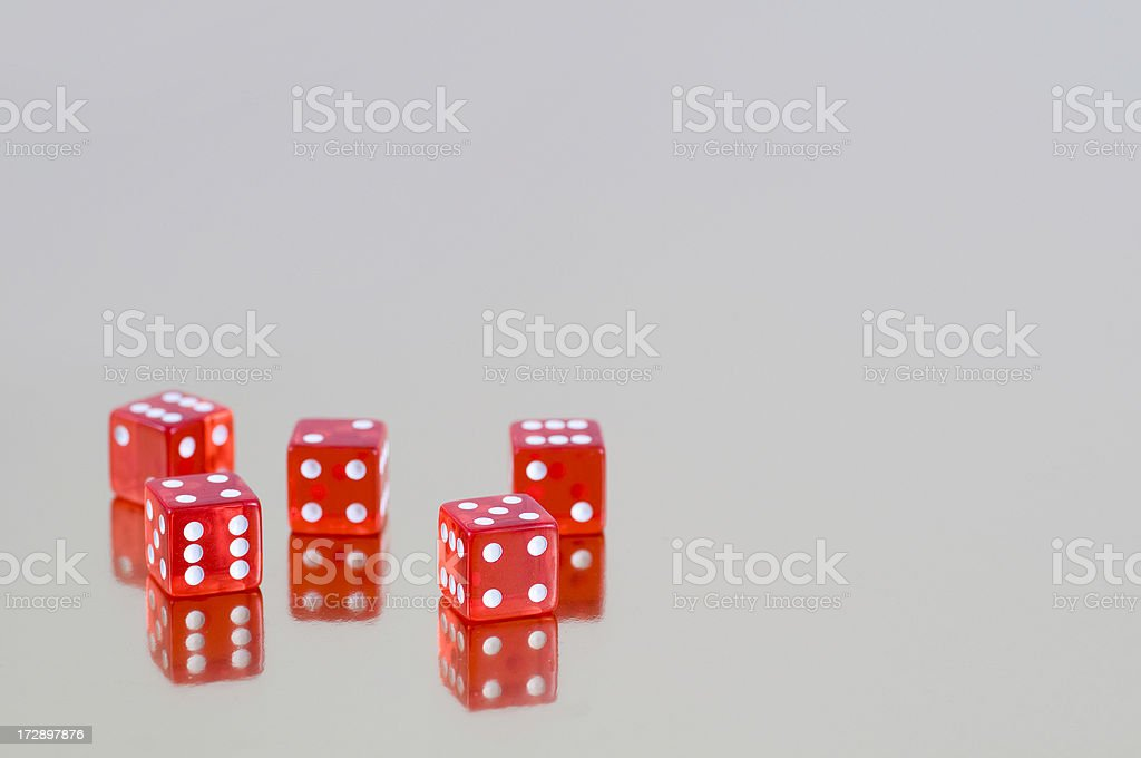 Luck cube stock photo