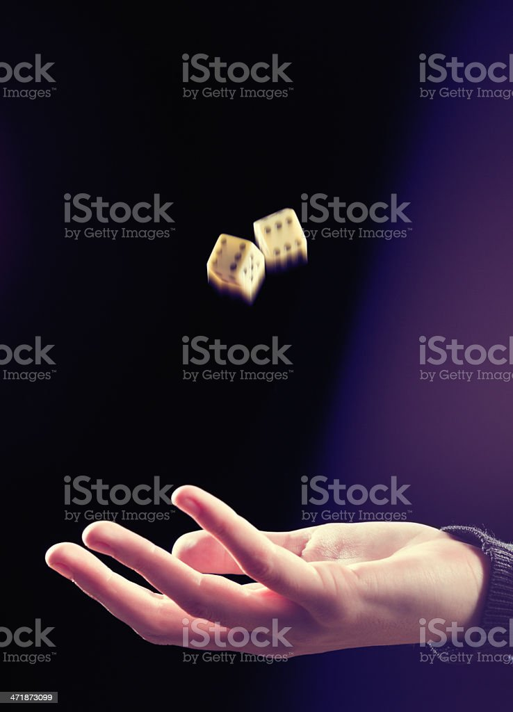 Luck, good or bad, is a toss up! royalty-free stock photo