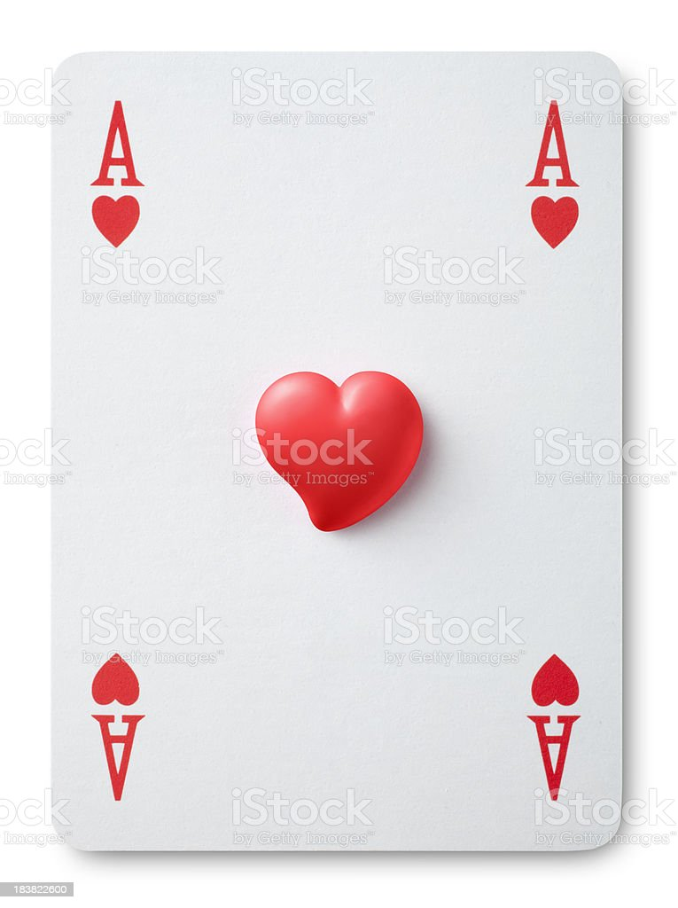 Luck in love. Ace of hearts. stock photo