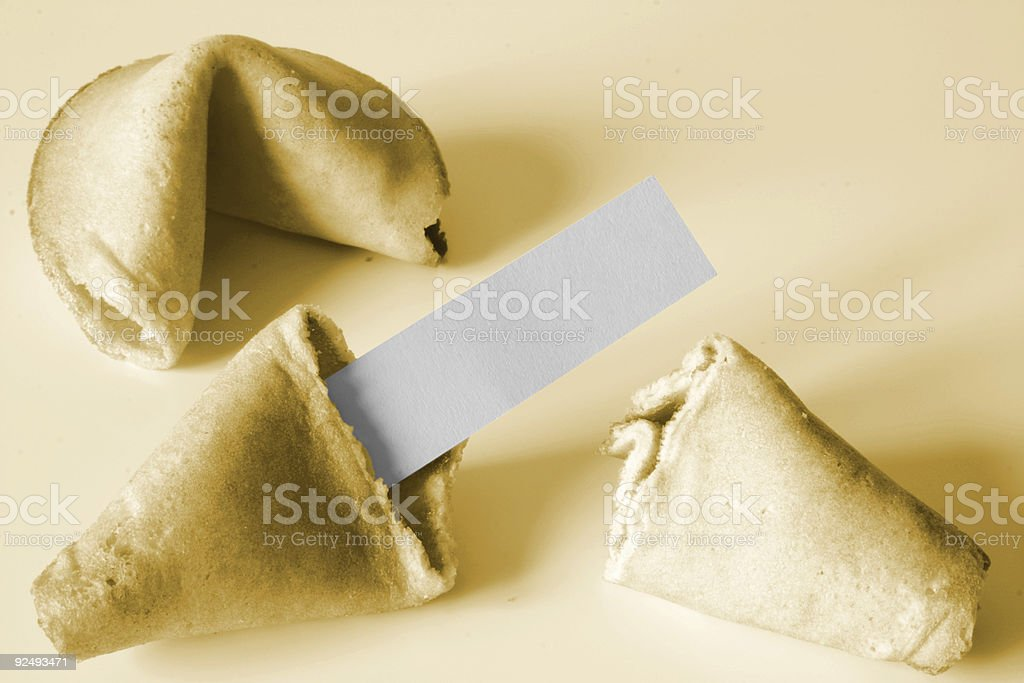 Luck message - Fortune cookie royalty-free stock photo