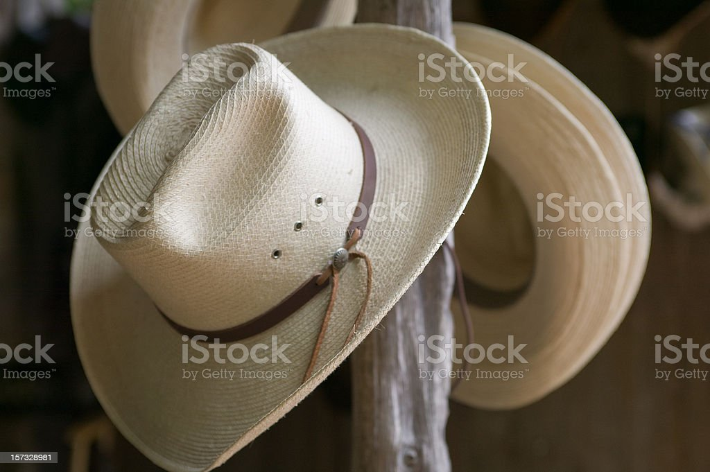 Luckenbach Stetsons for sale stock photo