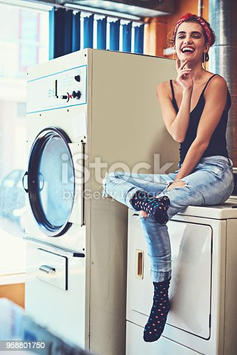 istock Luckily it's a fine day to do laundry 958801750