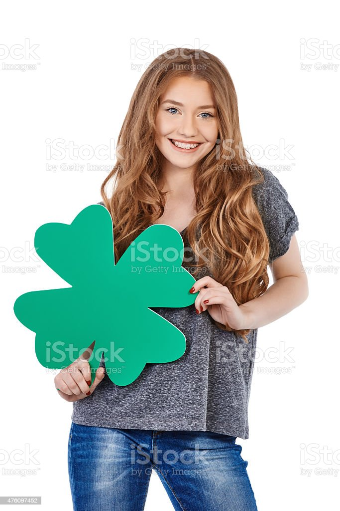 lucky and festive stock photo