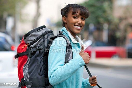 istock Lucky backpacker 182759563
