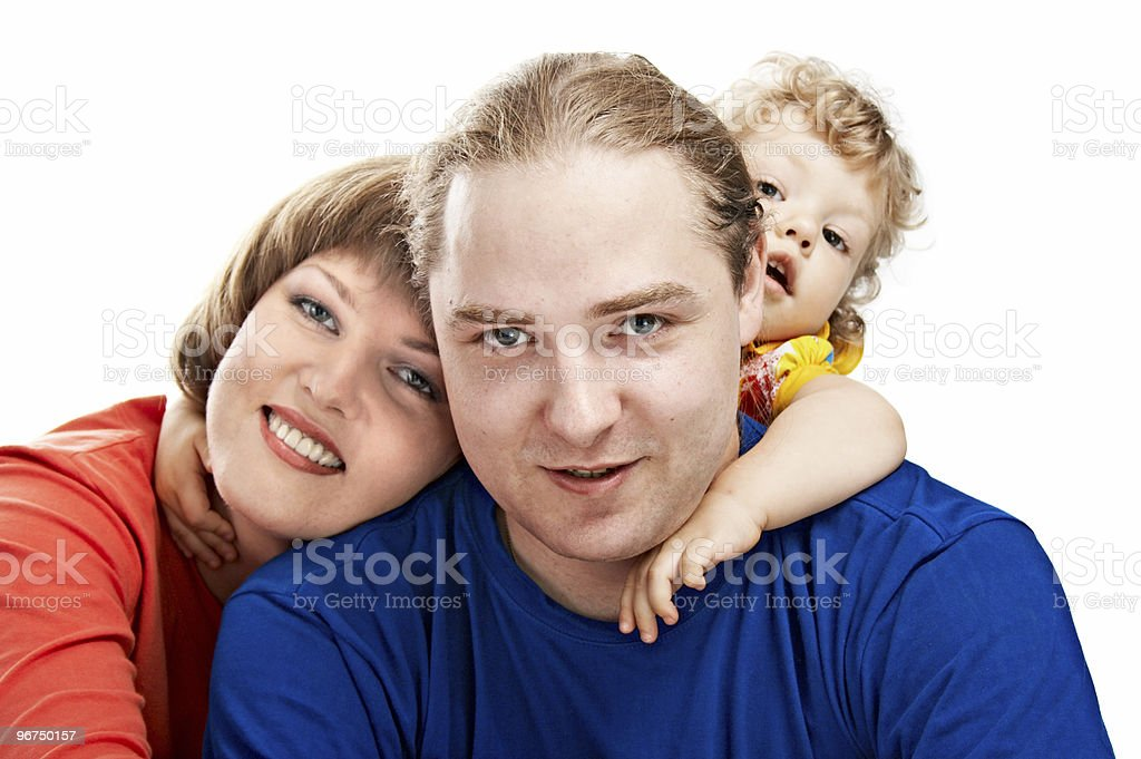 lucky family royalty-free stock photo