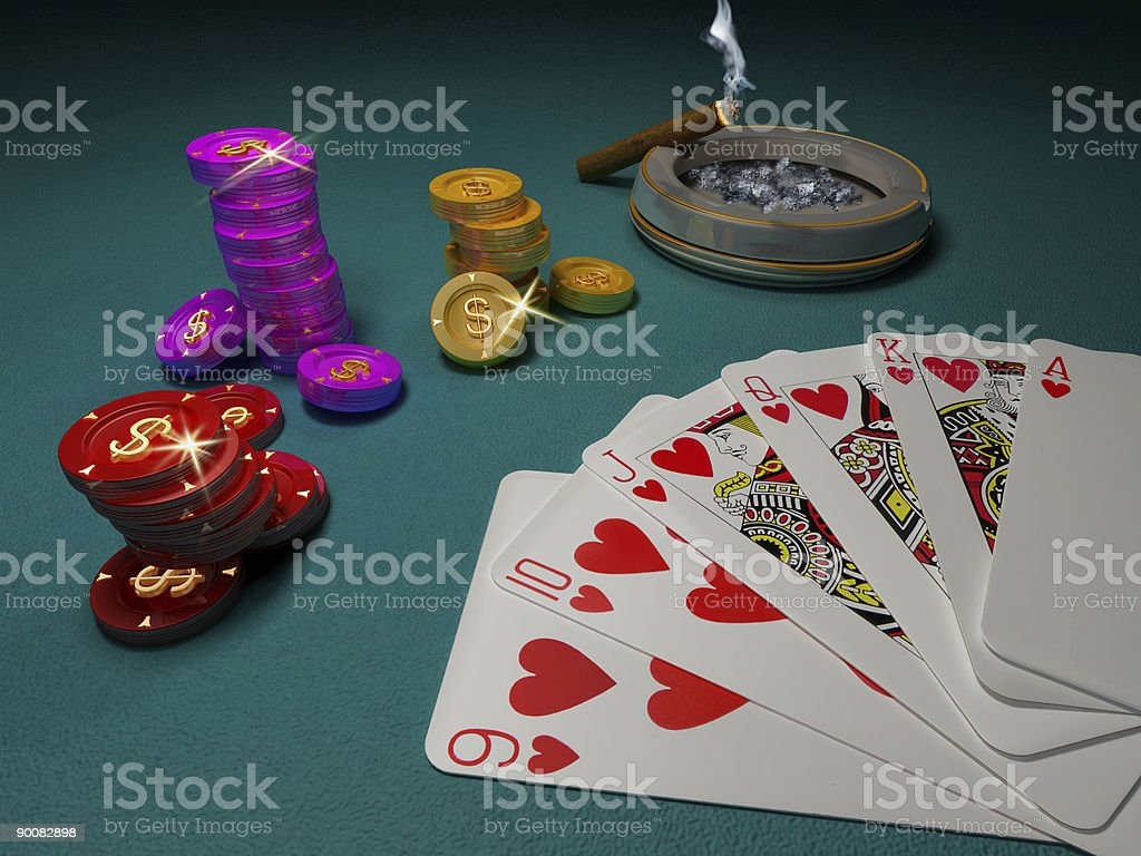 Lucky hand royalty-free stock photo