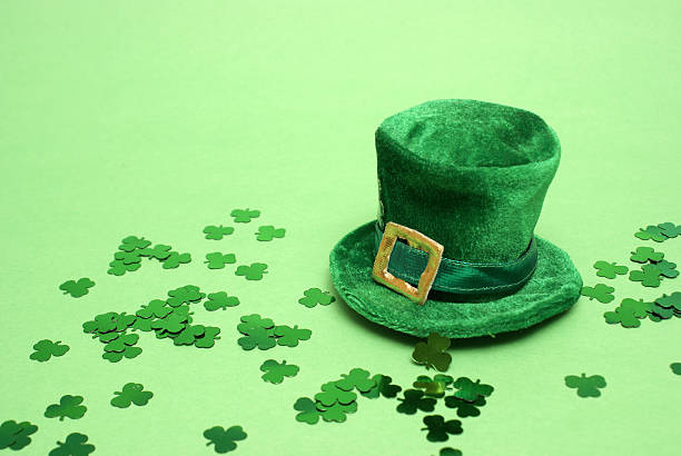 lucky hat - st patricks day stock photos and pictures