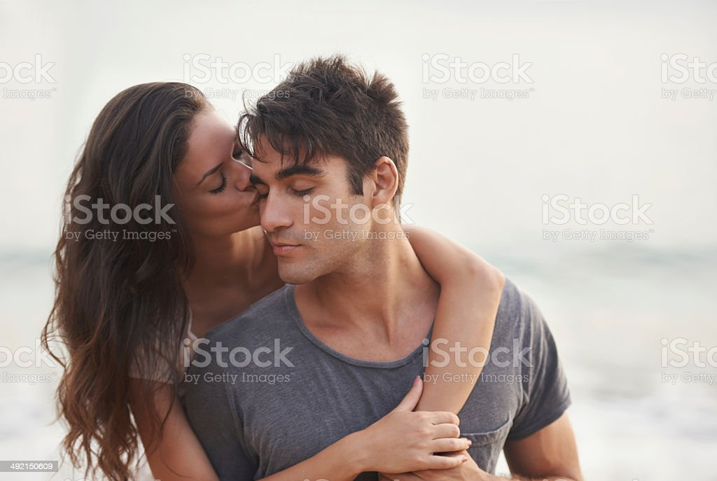 Lucky in love stock photo