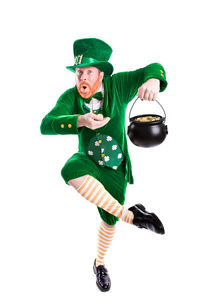 lucky leprechaun - luck of the irish stock photos and pictures