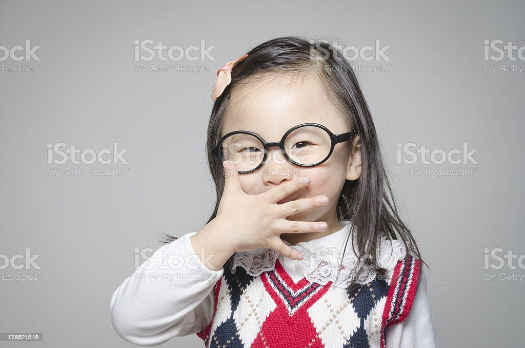 Lucky little girl royalty-free stock photo