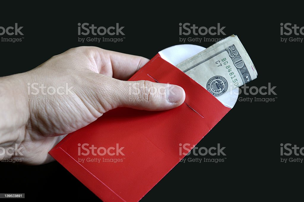 Lucky money packet Chinese New Year royalty-free stock photo