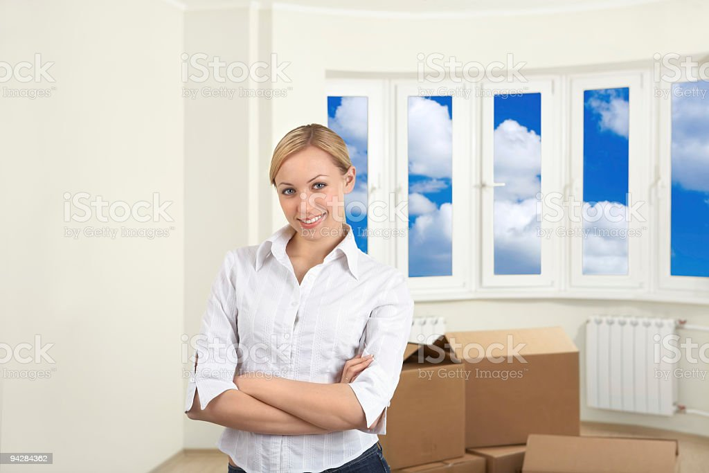 Lucky move-in royalty-free stock photo