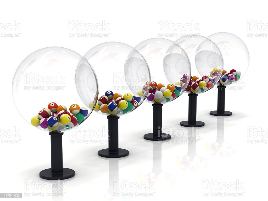 Lucky Numbers in Spheres stock photo