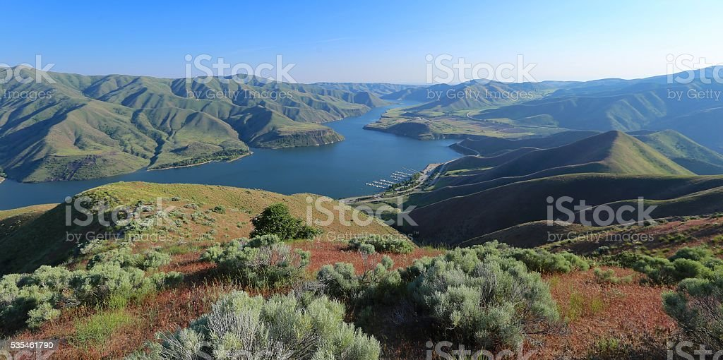 Lucky Peak Reservoir, Boise, Idaho stock photo