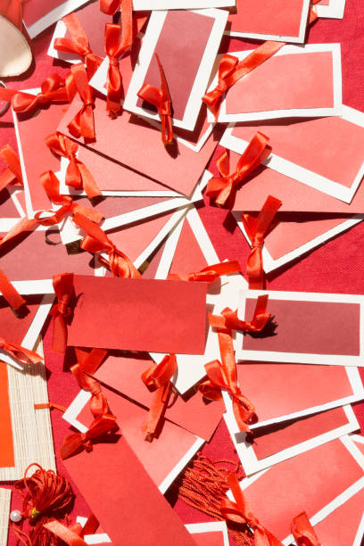 Lucky Red Cards stock photo