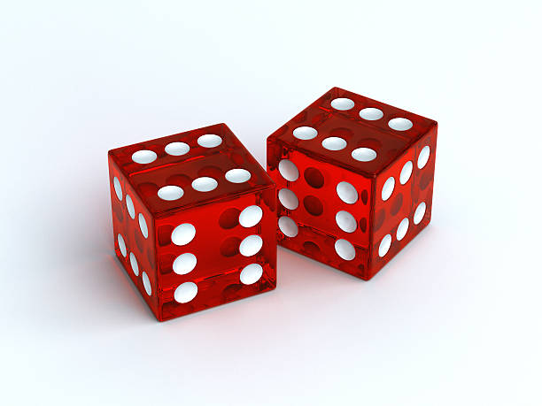 lucky dice - number 6 stock photos and pictures