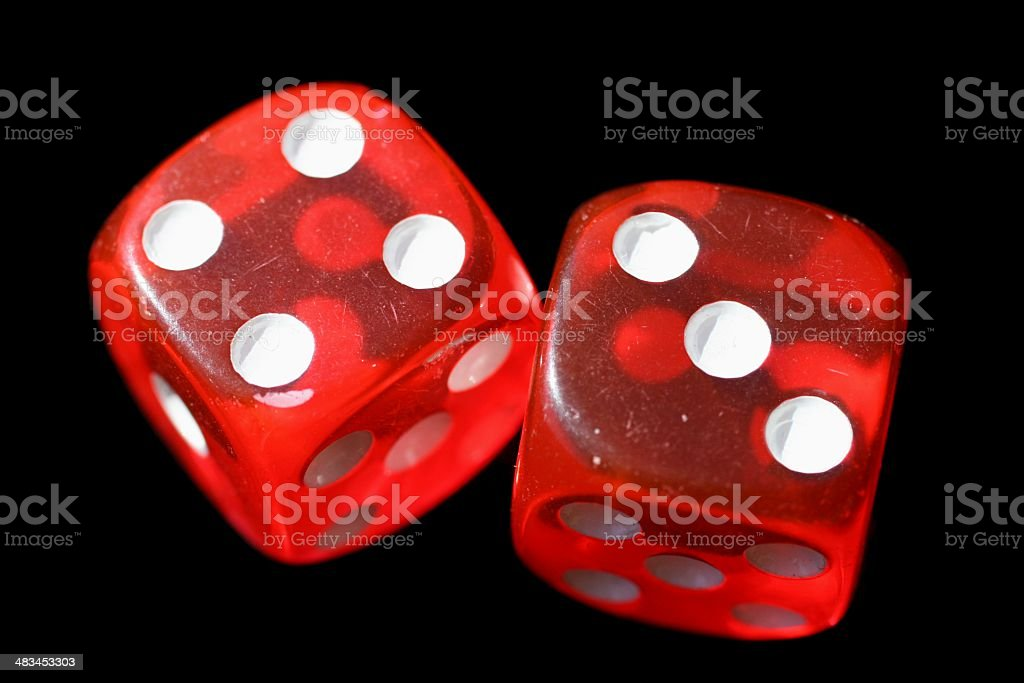 Lucky Seven Dice royalty-free stock photo