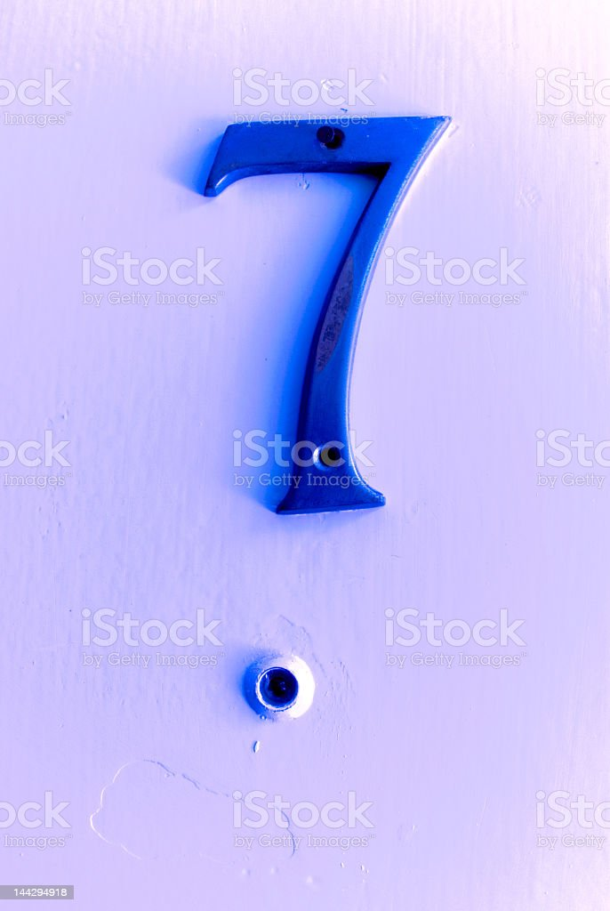 Lucky Seven royalty-free stock photo