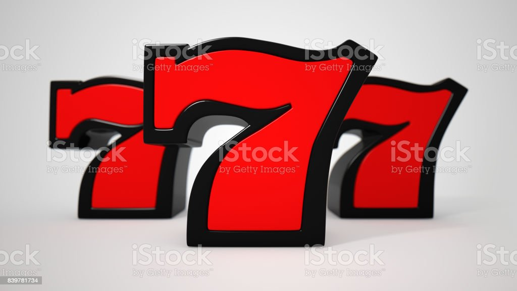 Lucky seven stock photo