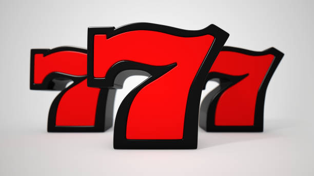 Lucky seven Lucky seven 3D illustration number 7 stock pictures, royalty-free photos & images