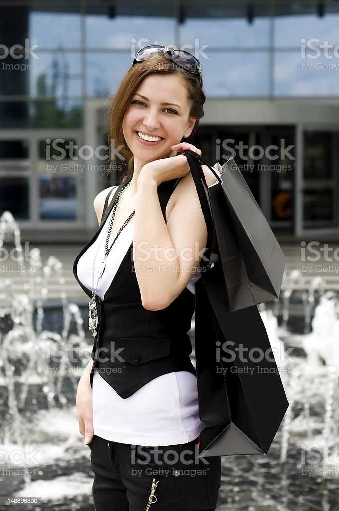 Lucky shopping royalty-free stock photo