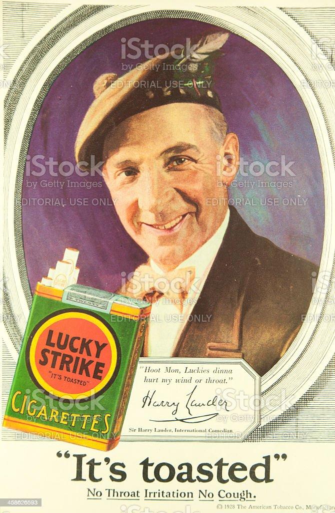 Lucky Strike Ad stock photo
